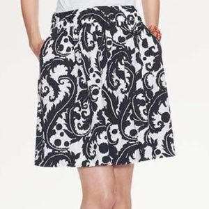 Banana Republic Milly Feather Print Skirt Size 2